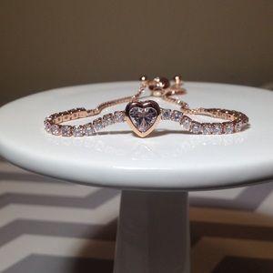 Jewelry - 💎 ROSE GOLD dipped Adj diamond heart bracelet 💎